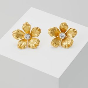 NWT J. Crew Gold Isla Pansy Earrings